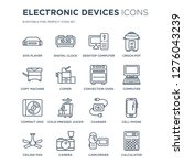 16 linear electronic devices... | Shutterstock .eps vector #1276043239