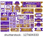 the big set of tickets. a...   Shutterstock .eps vector #127604333