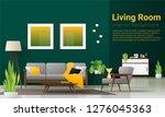 interior background of modern... | Shutterstock .eps vector #1276045363