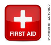 first aid medical button sign... | Shutterstock .eps vector #127604870