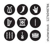 9 vector icon set   lyre  horn  ...   Shutterstock .eps vector #1276048786