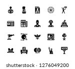 vector illustration of 20 icons.... | Shutterstock .eps vector #1276049200