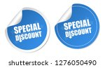 special discount stickers   Shutterstock .eps vector #1276050490