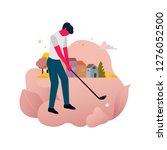 flat illustration design style... | Shutterstock .eps vector #1276052500