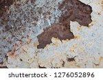 texture of rusty iron  cracked... | Shutterstock . vector #1276052896