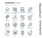 16 linear startup icons such as ... | Shutterstock .eps vector #1276055986