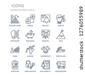 16 linear  icons such as... | Shutterstock .eps vector #1276055989