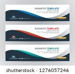 abstract web banner design... | Shutterstock .eps vector #1276057246