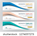 abstract web banner design... | Shutterstock .eps vector #1276057273