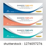 abstract web banner design... | Shutterstock .eps vector #1276057276
