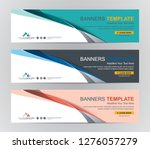 abstract web banner design... | Shutterstock .eps vector #1276057279