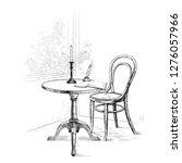 corner of the room  open... | Shutterstock .eps vector #1276057966