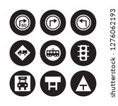 9 vector icon set   turn with... | Shutterstock .eps vector #1276062193