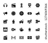 vector illustration of 25 icons.... | Shutterstock .eps vector #1276069366