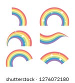 colorful rainbow collection | Shutterstock .eps vector #1276072180