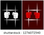 abstract windows with prison... | Shutterstock .eps vector #1276072540