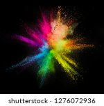 explosion of colored powder...   Shutterstock . vector #1276072936