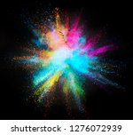 explosion of colored powder...   Shutterstock . vector #1276072939
