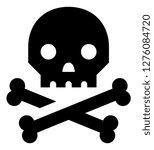 pirate skull crossbones icon   Shutterstock .eps vector #1276084720