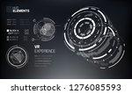 3d futuristic technology hud...