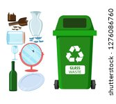 rubbish bin for recycling... | Shutterstock .eps vector #1276086760