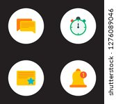 set of project icons flat style ... | Shutterstock .eps vector #1276089046