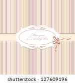 greeting card with bow ribbon... | Shutterstock .eps vector #127609196