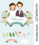 wedding element collection for... | Shutterstock .eps vector #1276096153