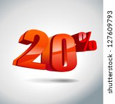 20 percent sale | Shutterstock .eps vector #127609793