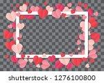 love frame. white frame on... | Shutterstock .eps vector #1276100800