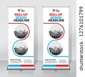 roll up banner design template  ... | Shutterstock .eps vector #1276101799