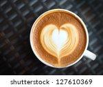 Close Up Coffee Latte Art On...