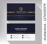 business model name card luxury ... | Shutterstock .eps vector #1276105579