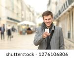 front view portrait of a happy... | Shutterstock . vector #1276106806