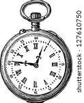 old pocket watch | Shutterstock .eps vector #127610750