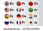 set of language buttons with... | Shutterstock .eps vector #1276110343