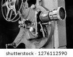 antique film projector  ... | Shutterstock . vector #1276112590