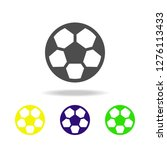 soccer ball multicolored icons. ...