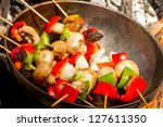 Brochette With Red And Green...