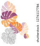 vector tropical pattern with... | Shutterstock .eps vector #1276117786