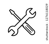repair icon. wrench and... | Shutterstock .eps vector #1276118029