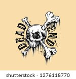 skull t shirt graphic design... | Shutterstock .eps vector #1276118770