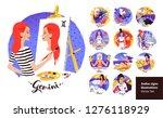 vector set of zodiac signs...   Shutterstock .eps vector #1276118929