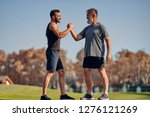 the young and old athletes...   Shutterstock . vector #1276121269