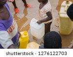 Children fetching water in Uganda, Africa