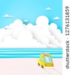 road trip on the beach with... | Shutterstock .eps vector #1276131859