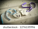 white porcelain plasticine with ... | Shutterstock . vector #1276135996
