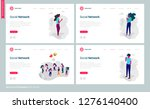 set of web page templates for... | Shutterstock .eps vector #1276140400