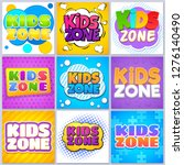 kids zone banners. children... | Shutterstock .eps vector #1276140490