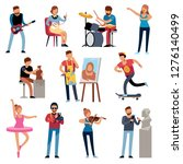 hobby persons. people of... | Shutterstock .eps vector #1276140499